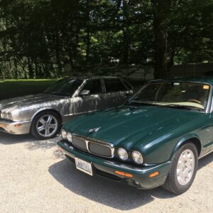 Green and Silver Jag